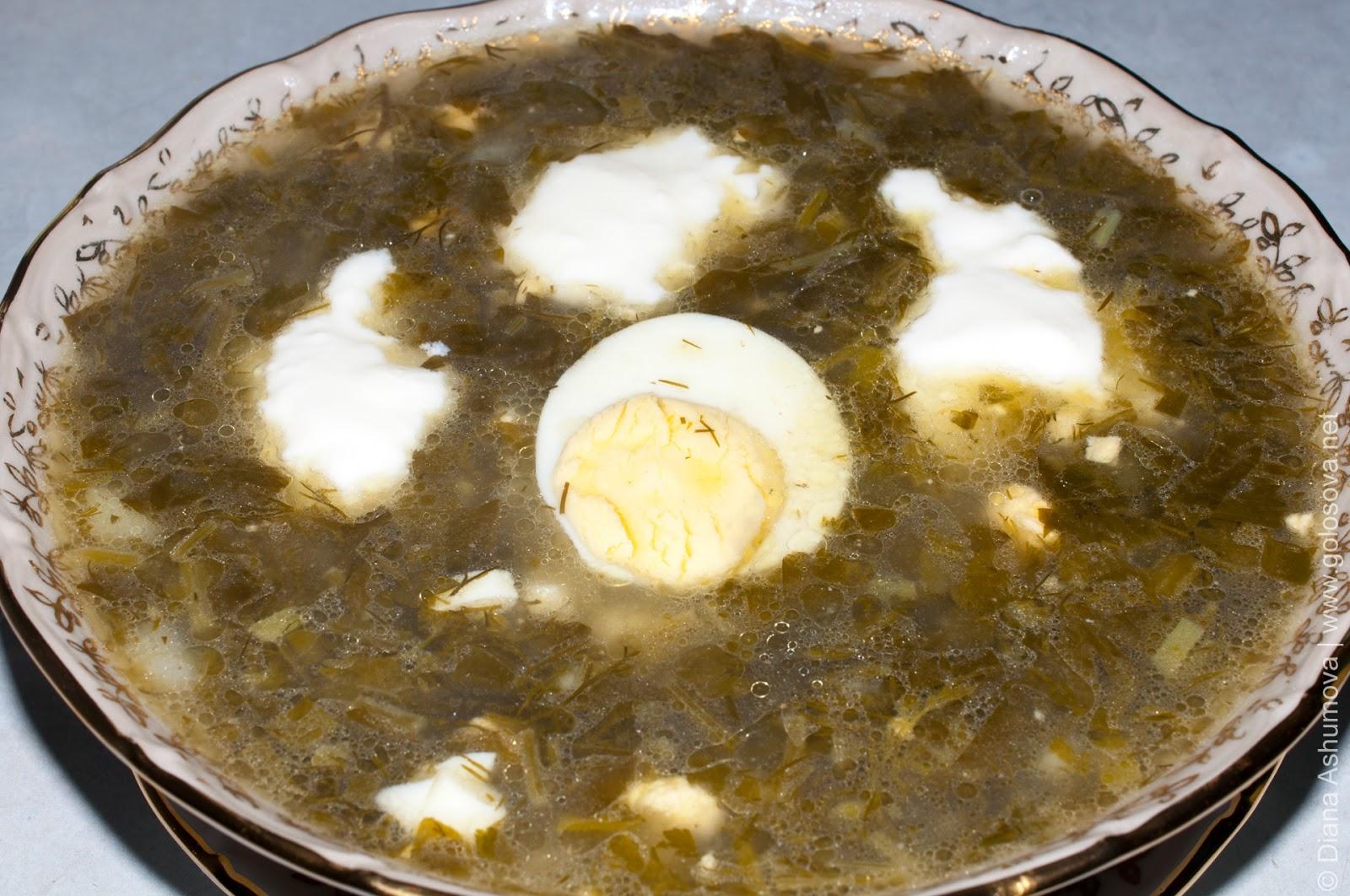 Как приготовить зеленый борщ с щавелем и яйцом рецепт с пошагово с